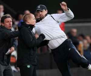 Neil Lennon attacked during game